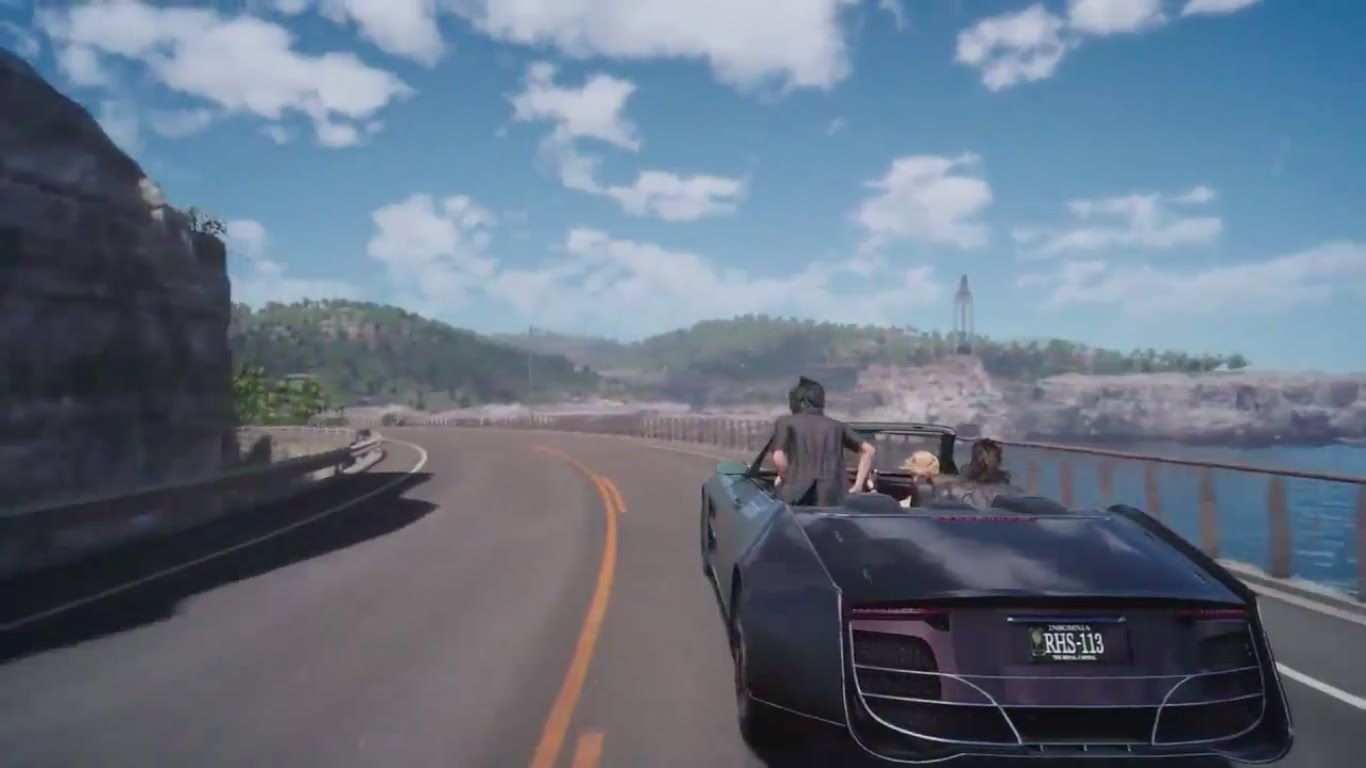 Noctis and friends driving